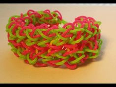 Rainbow Loom DOUBLE SOFT FUSION Bracelet. Designed and loomed by Cheryl Mayberry. Click photo for YouTube tutorial. 06/14/14.