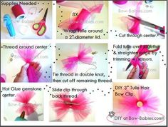 DIY Package - Tulle Hair Bow Clips - Supplies for 5 – Bow-Babies.com