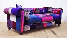 Chesterfield patchwork sofa purple love