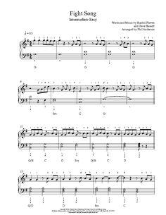 Fight Song by Rachel Platten Piano Sheet Music | Intermediate Level