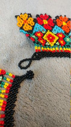 Your place to buy and sell all things handmade : Embera Chami Necklace Textiles Techniques, Bead Art, Crochet Necklace, Culture, Shakira, Beads, Etsy, Handmade, Crafts