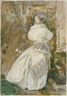 The Cashmere Shawl. 1911. John Singer Sargent. Watercolor.