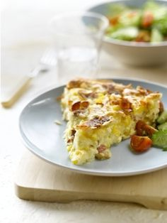Impossible Quiche. liked it, but might also put pie crust under so that we get more of the real quiche crust that I love.
