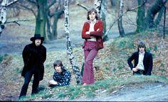 Pink Floyd no começo da carreira, quando Syd Barrett (na extrema direita) ainda liderava a banda Foto: Storm Thorgeson