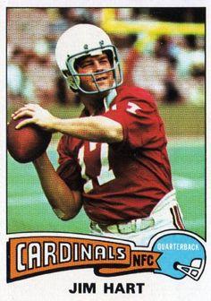 #1 Jim Hart - 1975 Topps #510   st louis cardinals jim hart 510 topps 1975 nfl american football ...