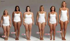 Deze zes vrouwen wegen evenveel, maar zien er totaal anders uit