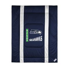 Great looking comforter that would be the centerpiece of any Seahawks bedroom