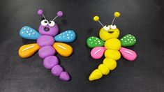 clay art for kids Polymer Clay Butterfly Easy Polymer Clay, Polymer Clay Fairy, Polymer Clay Miniatures, Polymer Clay Charms, Clay Crafts For Kids, Kids Clay, Clay Making, Making Toys, How To Make Clay