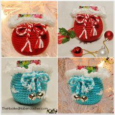 Free Santa's Gift Sack Ornament Crochet Pattern
