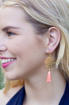 Bali Earrings - Tangerine