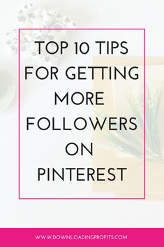 Building a following on Pinterest is very important as Pinterest is currently testing out the option for visitors to choose whether or not they want to see the entire feed or only the feed of their followers.  Check out my top 10 Pinterest marketing tips for getting more followers on Pinterest. https://cindyreeves.myshopify.com/pages/how-to-get-more-followers-on-pinterest #pinterestmarketing #onlinemarketing #shopify