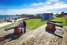 Fortress of Louisbourg National Historic Site Cape Breton, Nova Scotia, Historical Sites, Travel Guide, Travel Destinations, Golf Courses, Trail, Fire, Culture