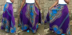 African-print-skirt-Dashiki-maxi-skirt
