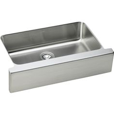 General Plumbing Supply - Elkay - ELUHFS2816DBG - 18 Gauge Stainless Steel 33'' X 20.5'' X 7.875'' Single Bowl Undermount Kitchen Sink Ki