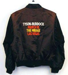 b59ff482df Details about VTG Rare 90's Boxing Mike Tyson vs Ruddock Bomber Jacket The  Mirage Las Vegas