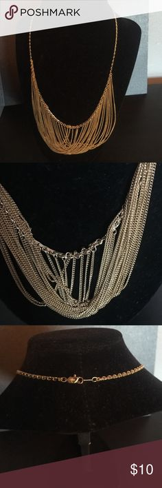 SALE TODAY Lovely gold colored necklace Dangly gold colored necklace. Multiple chains Jewelry Necklaces