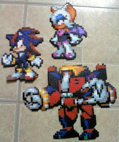 Team Dark Sonic perler beads by TomatoisJPhansburg