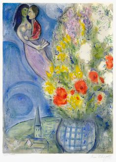 Marc Chagall, Les Coquelicots (Red Poppies), 1949