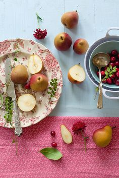 Seckel Pears by Elizabeth Gaubeka Photography.