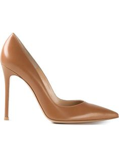 Just in case your perfect nude pump is perfectly tanned.   Gianvito Rossi $486 | #Farfetch