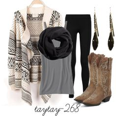 mainly like sweater and boots. the names of these fashion ensembles crack me up!: 'foolish games are tearing me apart, created by taytay-268 on Polyvore'