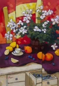 Harmony by Angus Wilson Simple Oil Painting, Painting Still Life, Still Life Artists, Wilson Art, Arte Floral, Artist Art, Beautiful Paintings, Art World, Painting Inspiration
