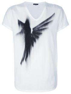 Ann Demeulemeester Bird Spray Print T-Shirt