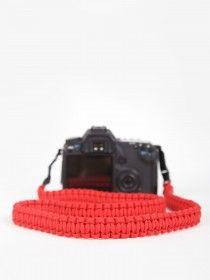 DSPTCH Braided Camera Strap Red