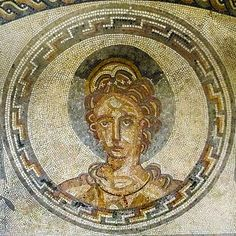 Roman Mosaic. Venus. Bignor Roman Villa. Sussex. England.  Greek Aphrodite