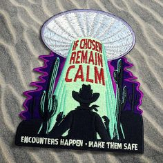 Alien Abduction Safety Cryptozoology Patch UFO UFOs alien