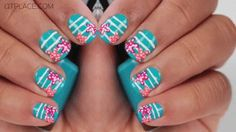 Make this nautical nail art  From Southerninspirations