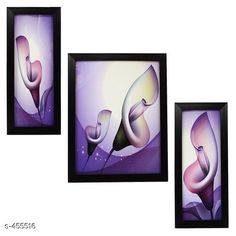 Paintings & Posters Stylish Wall Paintings (Set Of 3) Material: Wood and Plastic Dimension(LxW): Frame 1 - 12.5 in X 5.2 in Frame 2 - 12.5 in X 9.5 in Frame 3 - 12.5 in X 5.2 in Description: It Has 3 Pieces Of Frames With Paintings (Glass Is Not Included) Work: Printed Country of Origin: India Sizes Available: Free Size   Catalog Rating: ★4.1 (3479)  Catalog Name: Spiritual Wall Paintings Vol 10 CatalogID_49658 C127-SC1611 Code: 442-455516-