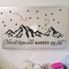 Not All Those Who Wander Are Lost: Mountain Range Macbook Decal
