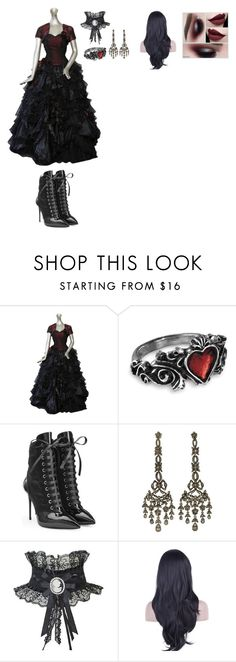 """""""Victorian"""" by thespine ❤ liked on Polyvore featuring EDEN, Giuseppe Zanotti, vintage, goth and victorian"""