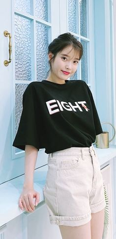 Pretty Korean Girls, Cute Korean Girl, Kpop Outfits, Casual Outfits, Iu Hair, Korean Celebrities, Celebs, Emo Anime Girl, Fashion Wallpaper