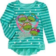 Long Sleeve Teenage Mutant Ninja Turtles HI-Lo Fashion Long Sleeve Tee - Walmart.com