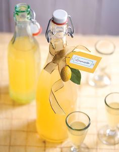 My brother-in-law made his own batch of Limoncello liqueur and bottled it as Christmas gifts for the family after he enjoyed it while on vacation in Italy last year.  It's refreshing and delicious!
