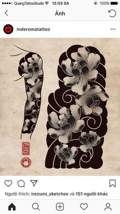 Sharpie Tattoos, Red Ink Tattoos, Line Art Tattoos, Black Tattoos, Body Art Tattoos, Japanese Cloud Tattoo, Japanese Flower Tattoo, Japanese Tattoo Designs, Japanese Sleeve Tattoos