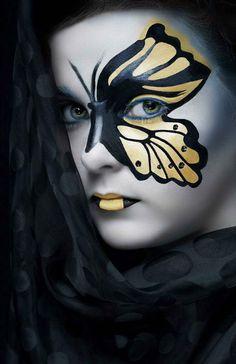 DIY Halloween Makeup : pretty halloween face makeup