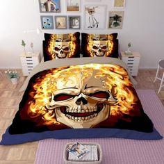 3D Skull Bedding Set