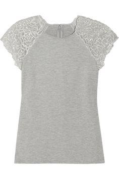 LELA ROSE  Crystal-embellished stretch-jersey top  $695