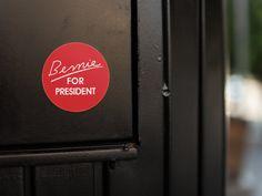 Bernie Sanders 2020 with Birds Cartoon Circle Bumper Window Sticker