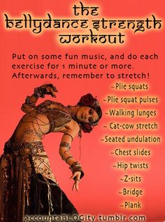 Bellydance Workout! With video links #bellydance #dance #workout