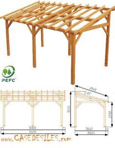 auvent terrasse sherwood carport bois de 5mx3 garage pinterest auvent terrasse carport. Black Bedroom Furniture Sets. Home Design Ideas
