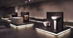 World of Duravit: Company, the Duravit brand, DuraLab and locations. Showroom Interior Design, Furniture Showroom, Design Furniture, Unique Furniture, Showroom Ideas, Steel Furniture, Retro Furniture, Furniture Layout, White Furniture