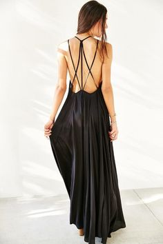 The back of this Urban Outfitters Ecote Lacey Cutout Maxi Dress is beautiful! Get it now on ShopStyle