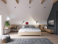Geräumiges Schlafzimmer mit Dachschräge | Gefällt mir | Pinterest ...