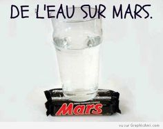 This was originally an April fools joke by NASA. They found water on Mars. Clean Funny Pictures, Funny Images, Funny Pics, Hilarious, Weird Pictures, Funny Geek, It's Funny, Funny Humor, Water On Mars