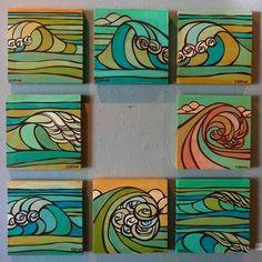 Heather Brown www. Heather Brown Art, Art Auction Projects, Cosplay Steampunk, Underwater Painting, Art Nouveau Tiles, Hawaiian Art, Surfboard Art, Art Lessons Elementary, Posca