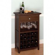 Shop Winsome Wood Cabinet Wine Rack at Lowe's Canada. Find our selection of wine racks at the lowest price guaranteed with price match. Wine Rack Cabinet, Wine Rack Storage, Wine Rack Wall, Wood Wine Racks, Cabinet Drawers, Liquor Cabinet, Liquor Storage, Cupboard, Wine Glass Holder